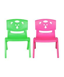 Sunbaby Magic Bear Chair Set Of 2 - Green & Pink