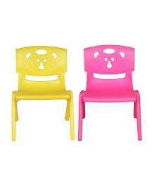Sunbaby Magic Bear Chair Set Of 2 - Yellow & Pink