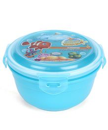 Jewel Safe Lock Medium Aquamarine Print Tiffin Box - Sky Blue