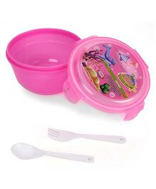 Jewel Safe Lock Lunch Box Set - Pink