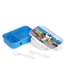 Jewel Smart Lock Big Snoopy Print Lunch Box - Blue
