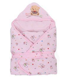 Sleeping Bag Bear Patch - Pink
