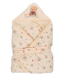 Sleeping Bag Bear Patch - Cream