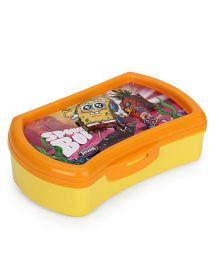 Jewel Selfie Clicker Sponge Bob Print Lunch Box - Yellow Orange