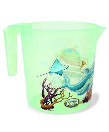 Jewel Corel Printed Rinsing Mug - Green