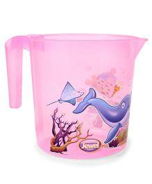 Jewel Corel Printed Rinsing Mug - Pink