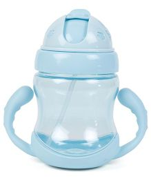 Twin Handle Sipper Cup With Straw - Blue