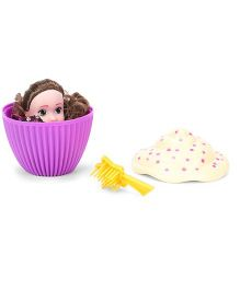 Cupcake Surprise Doll With Hairbrush - Purple Cream