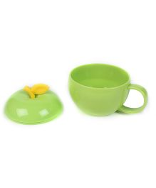 Apple Shaped Cup With Lid - Green