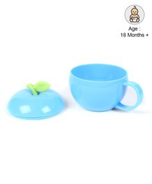 Apple Shaped Cup With Lid - Blue