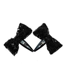 Bling & Bows Ava Sequence Bows - Black