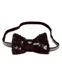 Bling & Bows Stella Sequence Bow Headband - Black