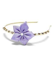 Bling & Bows Isla Flower Hair Band - Lavender