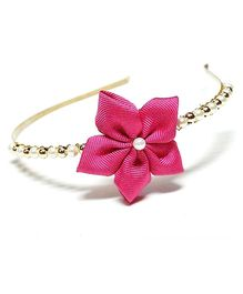 Bling & Bows Sofia Flower With Beads Hair Band - Pink