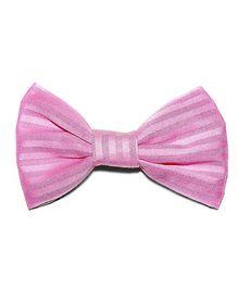 Bling & Bows Zuri Stripes Bow Hair Clip - Pink