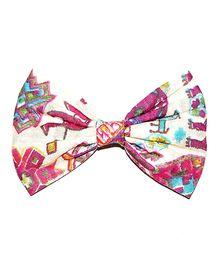 Bling & Bows Riva Print Bow Hair Clip - Pink