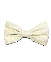 Bling & Bows Leah Bow Hair Clip - White