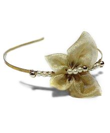 Bling & Bows Butterfly With Beads Hair Band - Golden