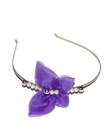 Bling & Bows Butterfly With Beads Hair Band - Purple