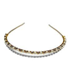 Bling & Bows Grace Hair Band - White & Golden