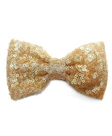 Bling & Bows Big Sequin Bow Hair Clip - Golden