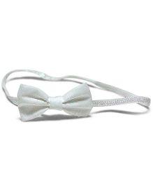 Bling & Bows Glitter HeadBand - Silver