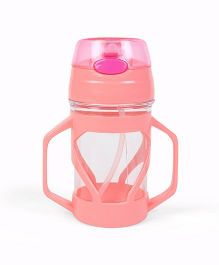 Twin Handle Sipper Cup With Straw - Pink
