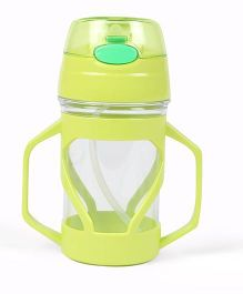 Twin Handle Sipper Cup With Straw - Green