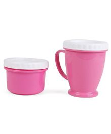Baby Feeding Cup And Snacks Box - Pink