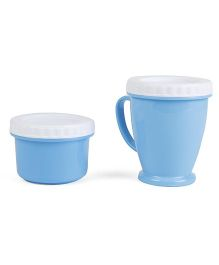 Baby Feeding Cup And Snacks Box - Blue