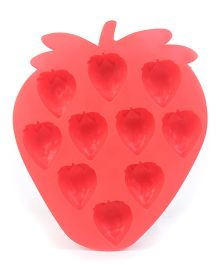 Strawberry Shaped Ice Cube Tray - Red