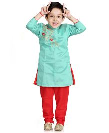 Little Pockets Store Designer Kurta & Bottom Set - Blue