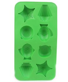 Multi Shaped Ice Cube Tray - Green