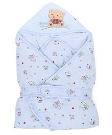 Sleeping Bag Bear Patch - Blue