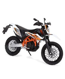 Welly KTM 690 Enduro R Diecast Model Bike - White Black