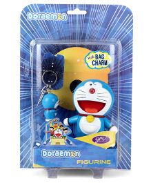Doraemon Smile Figurine With Key Chain - Height 10 cm