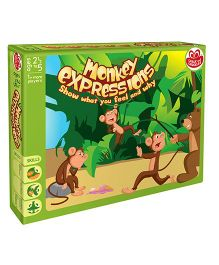 Chalk And Chuckles Monkey Expression Puzzle - Multicolor