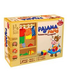 Chalk And Chuckles Pajama Party Game - Multicolor