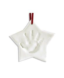 Pearhead Baby Prints X Mas Ornament Star - White