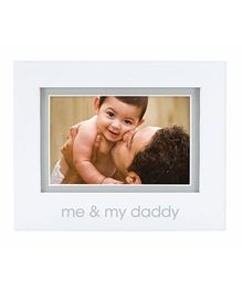 Pearhead Me and My Daddy Photo Frame - White