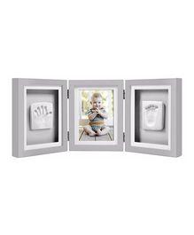 Pearhead Babyprints Deluxe Desk Triple Frame - Grey