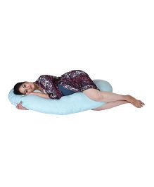 Lula Mom Maternity C Shape Body  Pillow - Blue