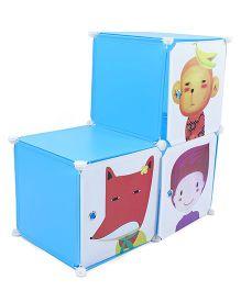 Multipurpose 3 Compartments Storage Unit - Blue