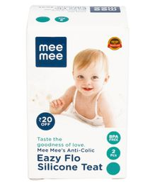 Mee Mee Liquid Silicone Nipples Extra Large - Pack Of 2