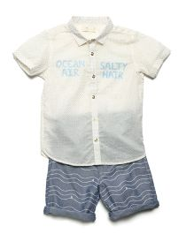 MilkTeeth Boy's Ocean Air Salty Hair Shirt - Ecru