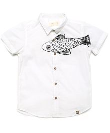 MilkTeeth Boy'S Trout Shirt - White