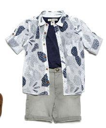 MilkTeeth Boy'S Fossil Shirt - White
