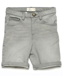 MilkTeeth Boy'S Washed Shorts - Light Grey