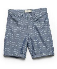 MilkTeeth Boy'S Whale Shorts - Light Blue