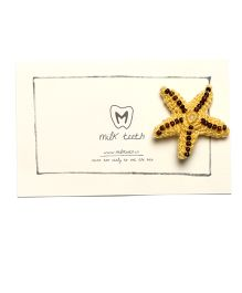 MilkTeeth Starfish Brooch - Yellow
